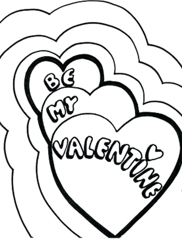 612x800 Heart Pictures To Color