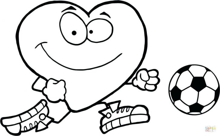 728x449 Coloring Page Ball Coloring Pages Click The Healthy Red Heart