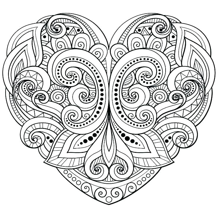 736x736 Heart Coloring Page Lock And Key Coloring Pages Free Printable
