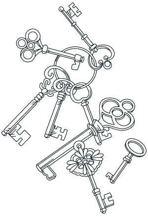 300x439 Key Coloring Page Key Coloring Pages Key Coloring Page Also