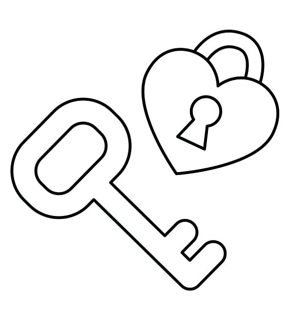 592x640 Key Coloring Pages Key Coloring Pages Letter K Colouring Pages