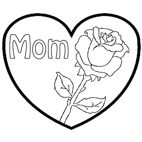 550x550 Coloring Pages Roses And Hearts Printable Coloring Coloring Pages