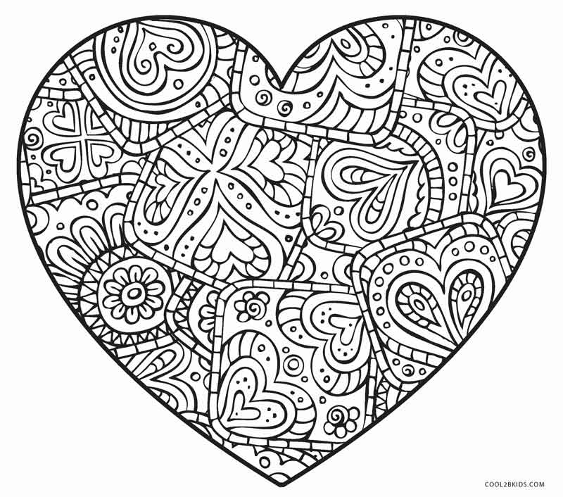 800x706 Free Printable Heart Coloring Pages For Kids