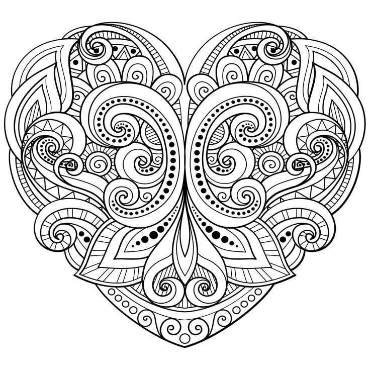 736x736 Heart Colour In Best Heart Coloring Pages Ideas