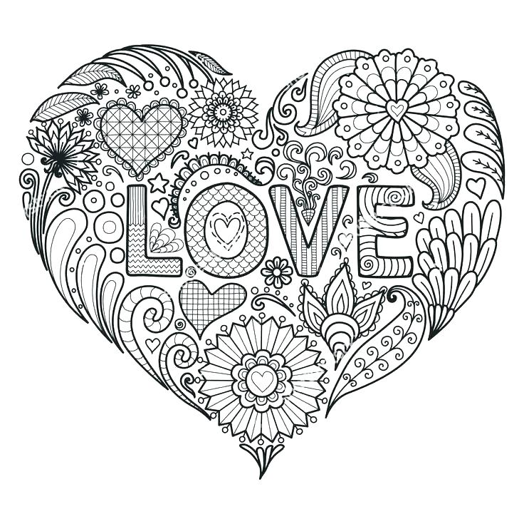 736x721 Printable Heart Coloring Pages Fresh Heart Coloring Pages And Love