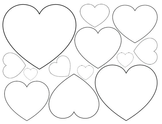 564x434 Small Heart Coloring Pages Small Heart Coloring Pages Heart