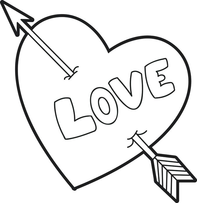678x700 Valentines Day Hearts Coloring Pages Heart Coloring Pages Free