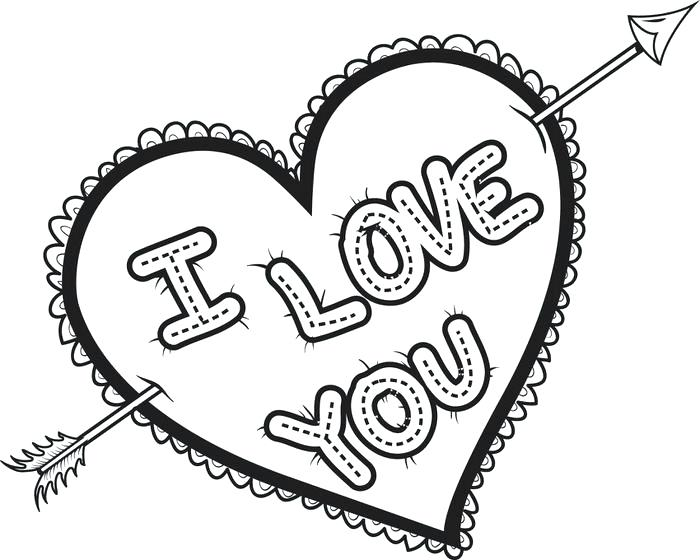700x560 Heart Coloring Sheets