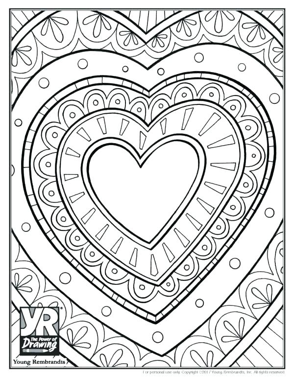 picture about Free Printable Heart Coloring Pages called Center Coloring Internet pages For Older people at  Absolutely free