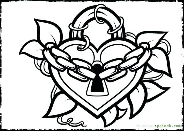 728x517 Heart Coloring Pages For Teenagers