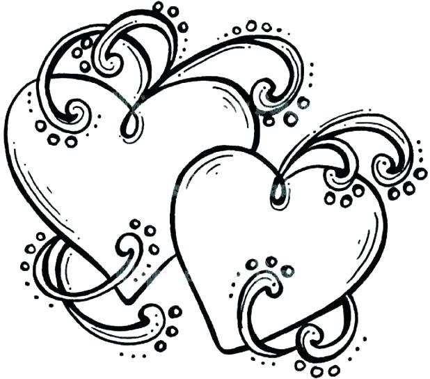 618x544 Hearts With Wings Coloring Pages Heart With Wings Coloring Pages