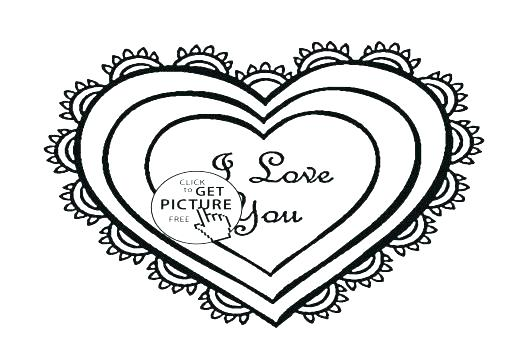 520x350 Heart Coloring Pages Printable