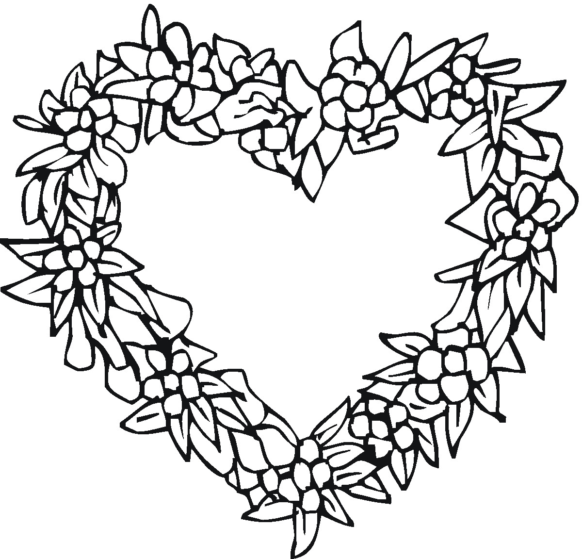 1200x1152 Coloring Pages For Teenagers Throughout Heart Sharry Me