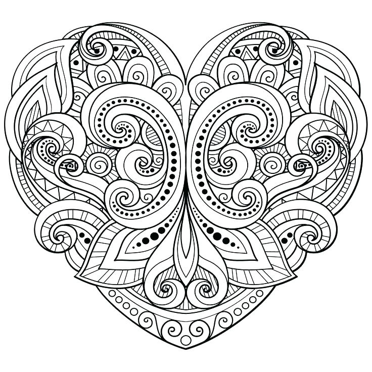 736x736 Heart Coloring Pages To Print Love Coloring Page Love Heart