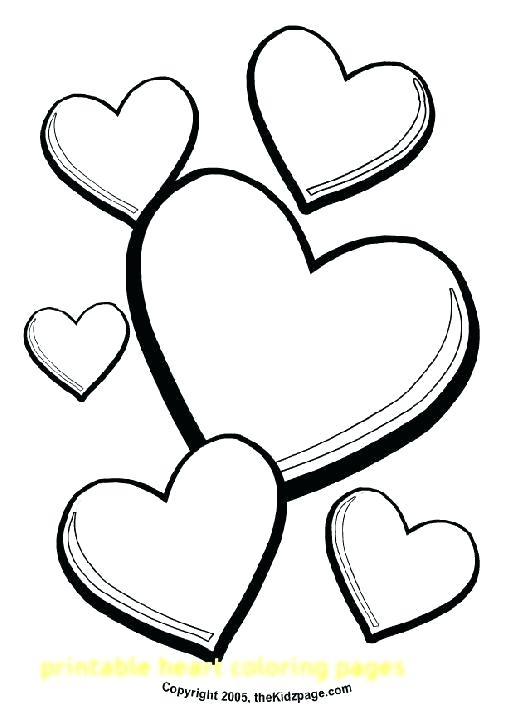 521x724 Heart Coloring Pages To Print Out Free Printable Heart Coloring