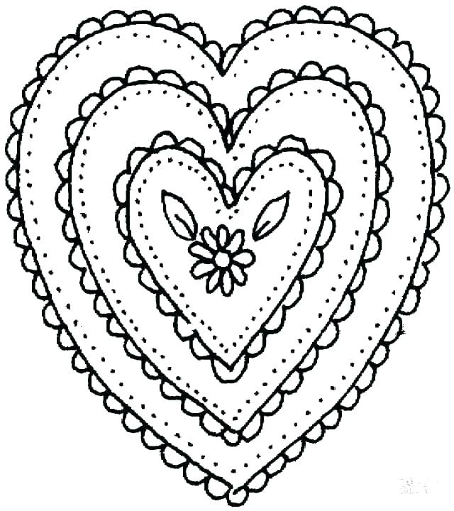 640x720 Heart Print Out Coloring Pages Heart Coloring Pages To Print Out