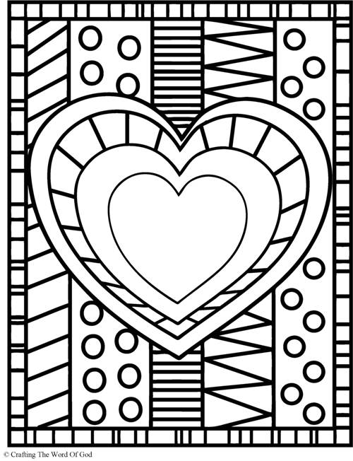 500x652 Hearts Coloring Sheet Heart Coloring Page Crafting The Word Of God