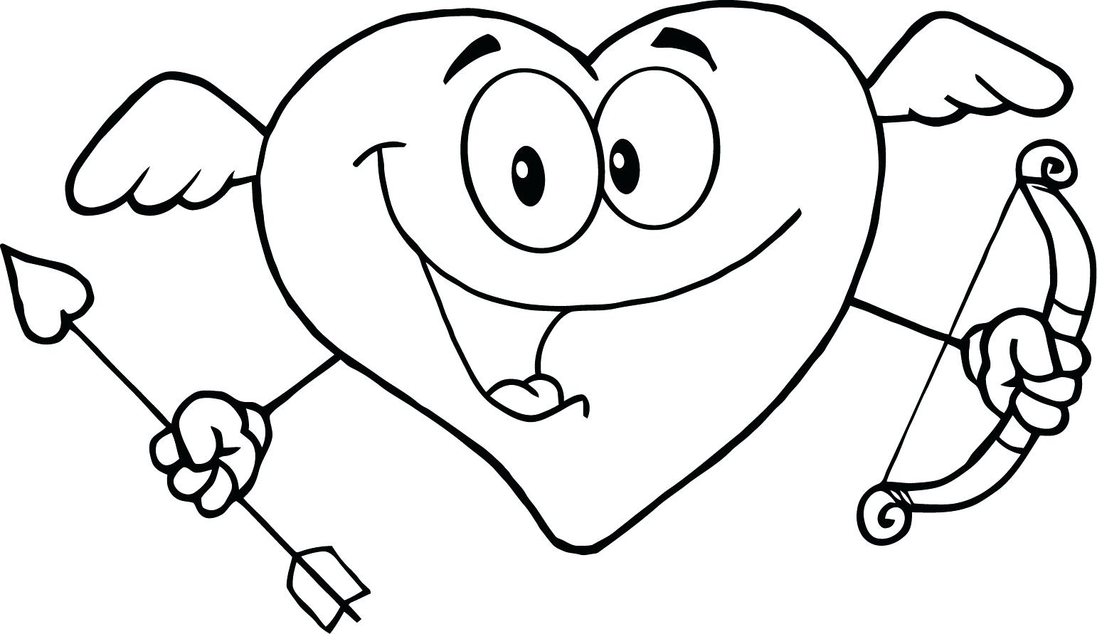 1542x891 Love Heart Coloring Sheets Free Printable Pages For Kids Of Hearts