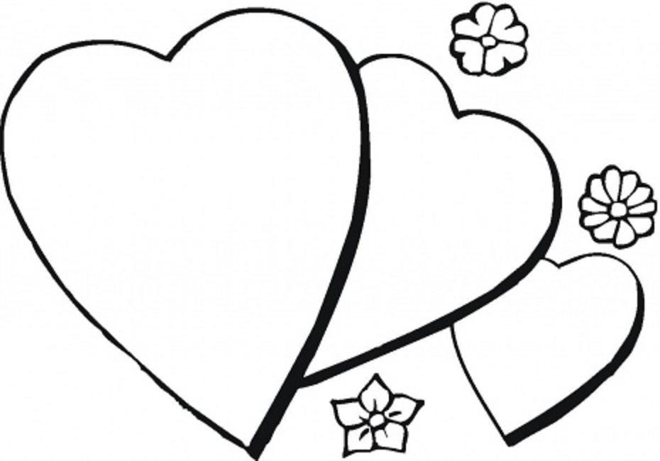 930x650 Love Heart Colouring In Pictures Heart Coloring Pages With Flowers