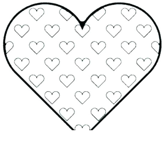 550x481 Hearts Coloring Pages To Print