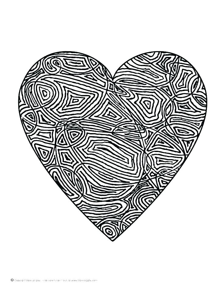 736x952 Free Heart Coloring Pages Also Heart Coloring Pages To Print Out