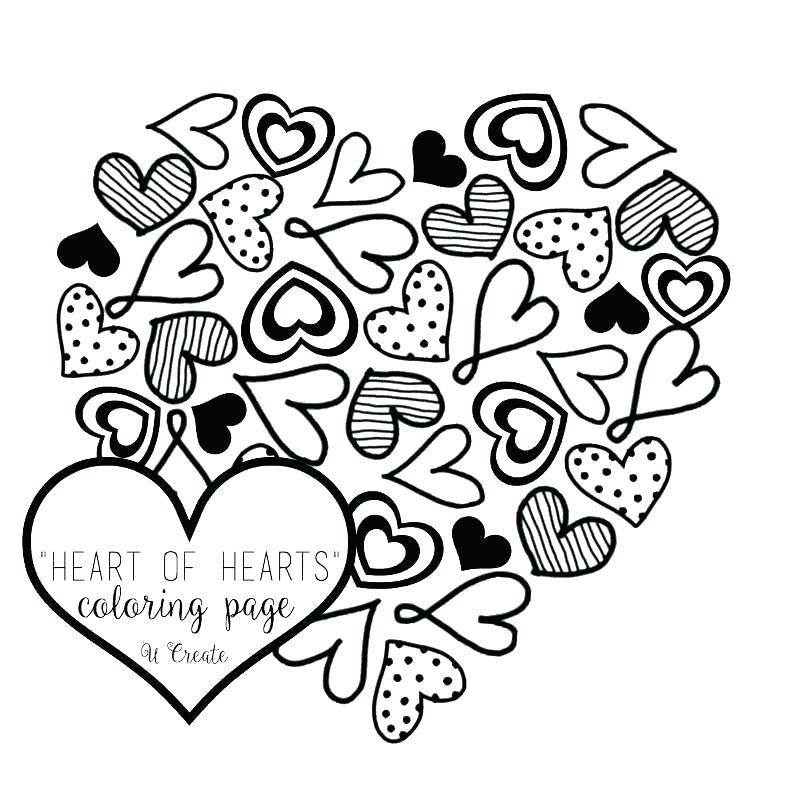 800x800 Free Heart Coloring Pages Lovely Heart Coloring Pages To Print