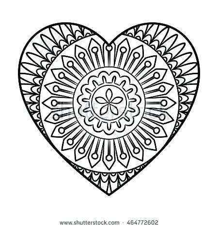 450x470 Heart Shape Coloring Pages Or Coloring Page Of Heart Heart Shape