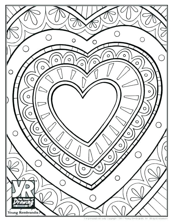 600x771 Printable Heart Coloring Pages Heart Design Coloring Pages Heart