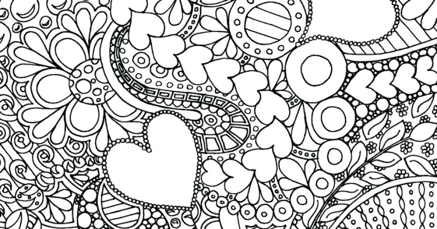 860x450 Design Color Pages Heart Design Coloring Pages Free Printable