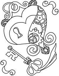 200x257 Heart Locket Coloring Pages