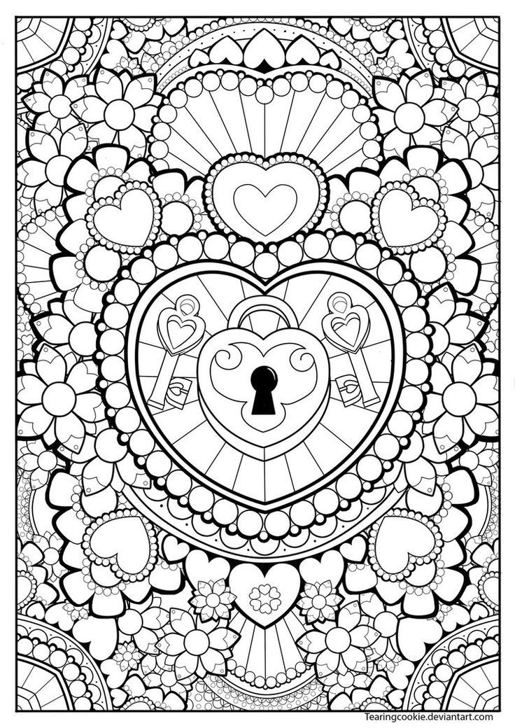 736x1040 Heart Locket Coloring Pages