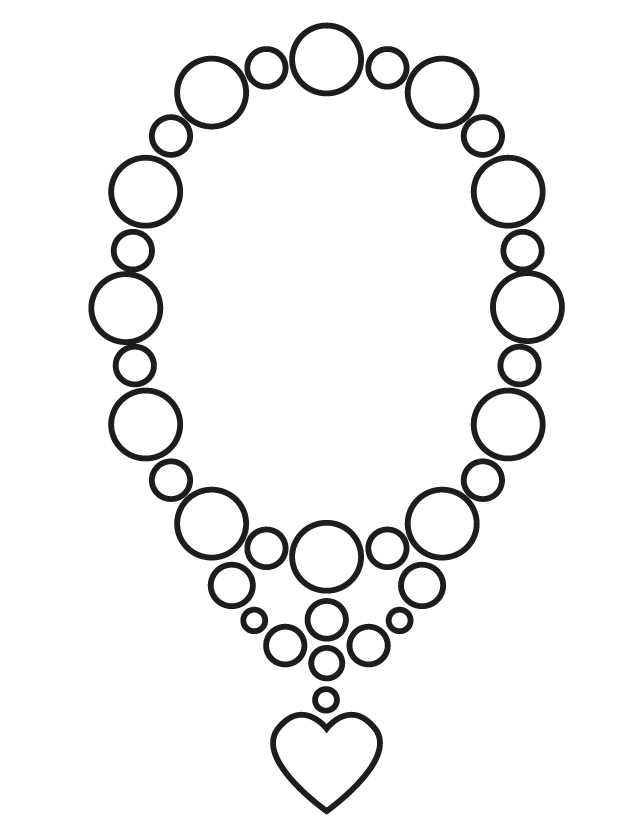 640x828 Jewelry Coloring Pages