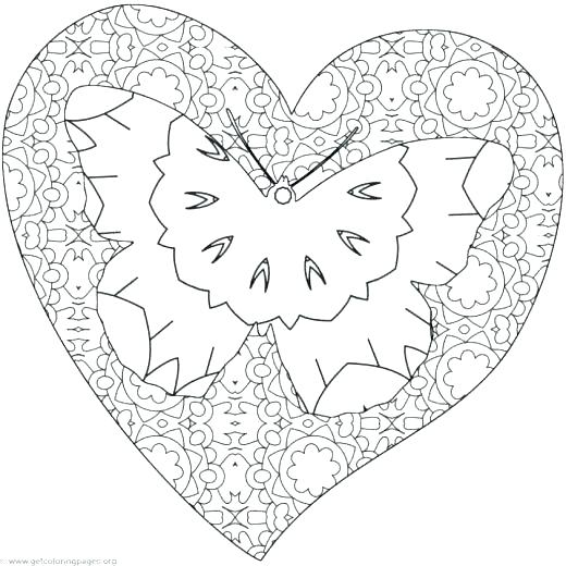 520x520 Heart Coloring Pages