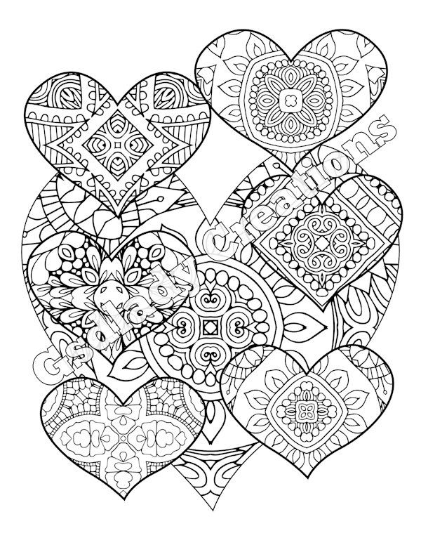Heart Pattern Coloring Pages At Getdrawings Free Download