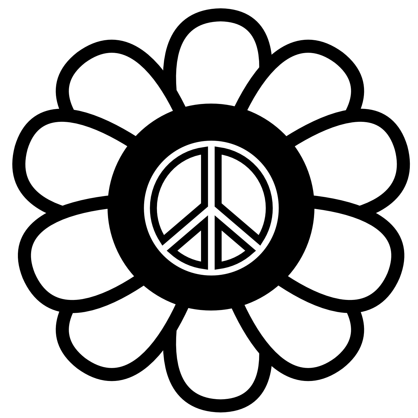 1331x1331 Important Peace Symbol Coloring Pages Sign Coloring Pages