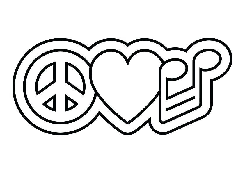 842x595 Peace And Love Coloring Pages Coloring Pages Of Peace Signs Peace