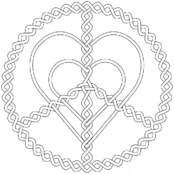 600x600 Peace And Love Coloring Pages Free Printable Love Coloring Pages