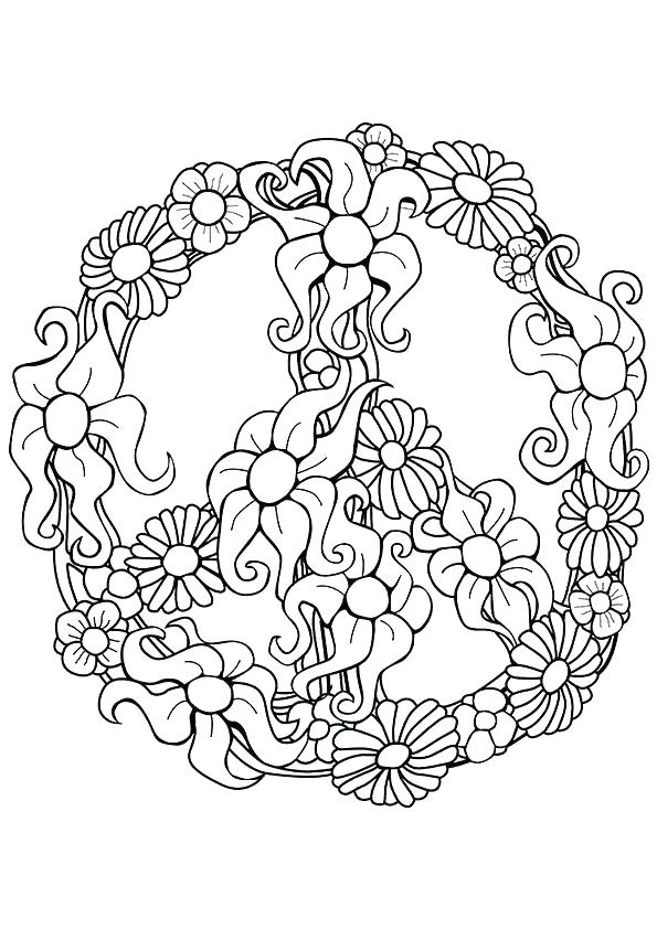 595x842 Peace Sign Coloring Page Peace Coloring Page This Is Relaxing