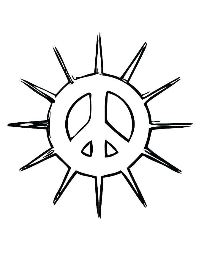 670x867 Peace Sign Coloring Page Peace Sign Coloring Page Peace Sign