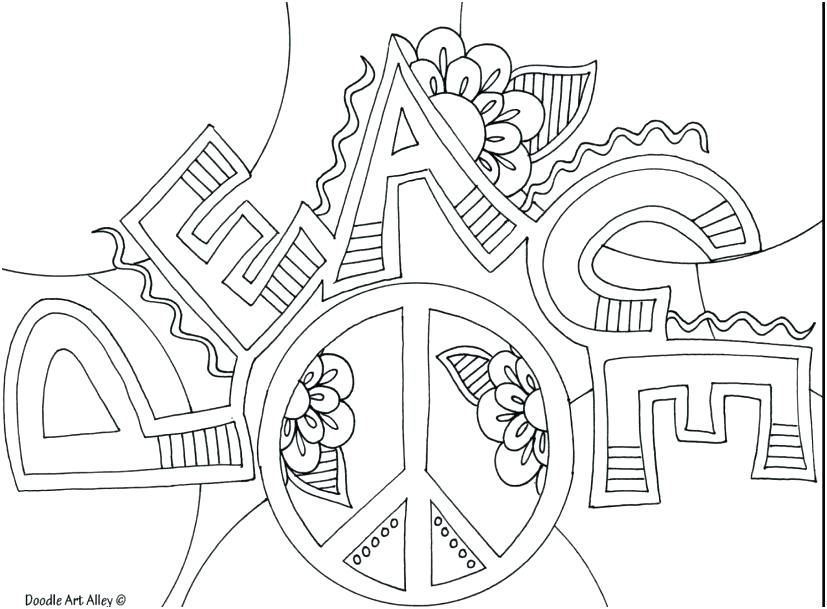 827x609 Peace Sign Coloring Pages Peace Sign Coloring Pages Being A True