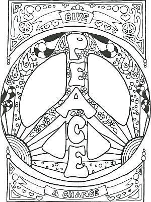 300x401 Peace Sign Coloring Pictures