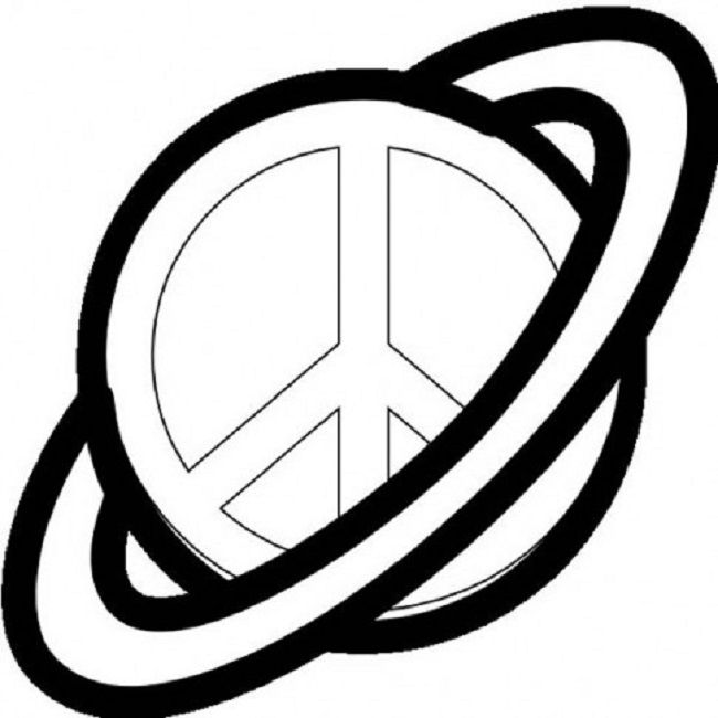 650x650 Peace Sign Clipart Colouring Page