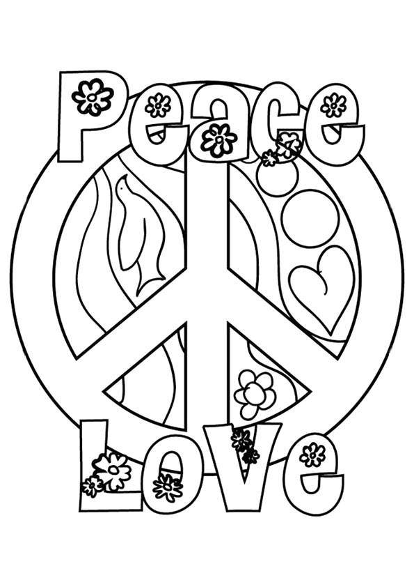 595x842 Peace Sign Coloring Pages Peace Love