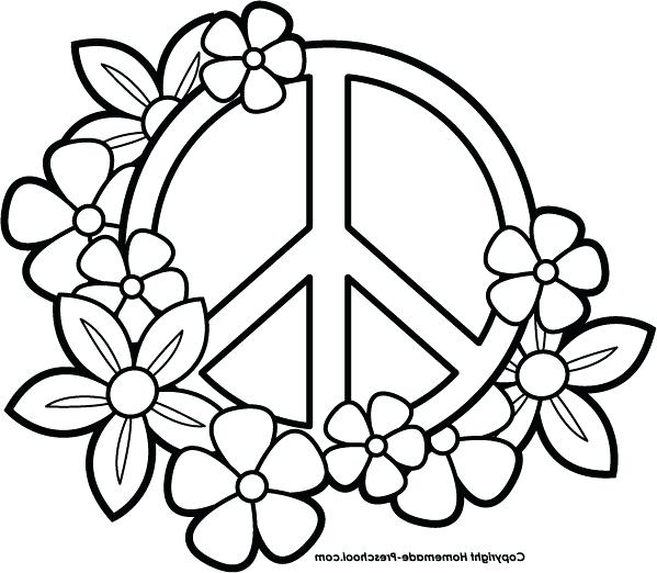 599x522 Coloring Pages Of Peace Signs Peace Coloring Pages Peace Sign