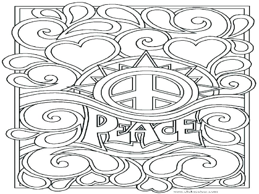 863x647 Printable Peace Signs Peace Sign Coloring Pages In Addition