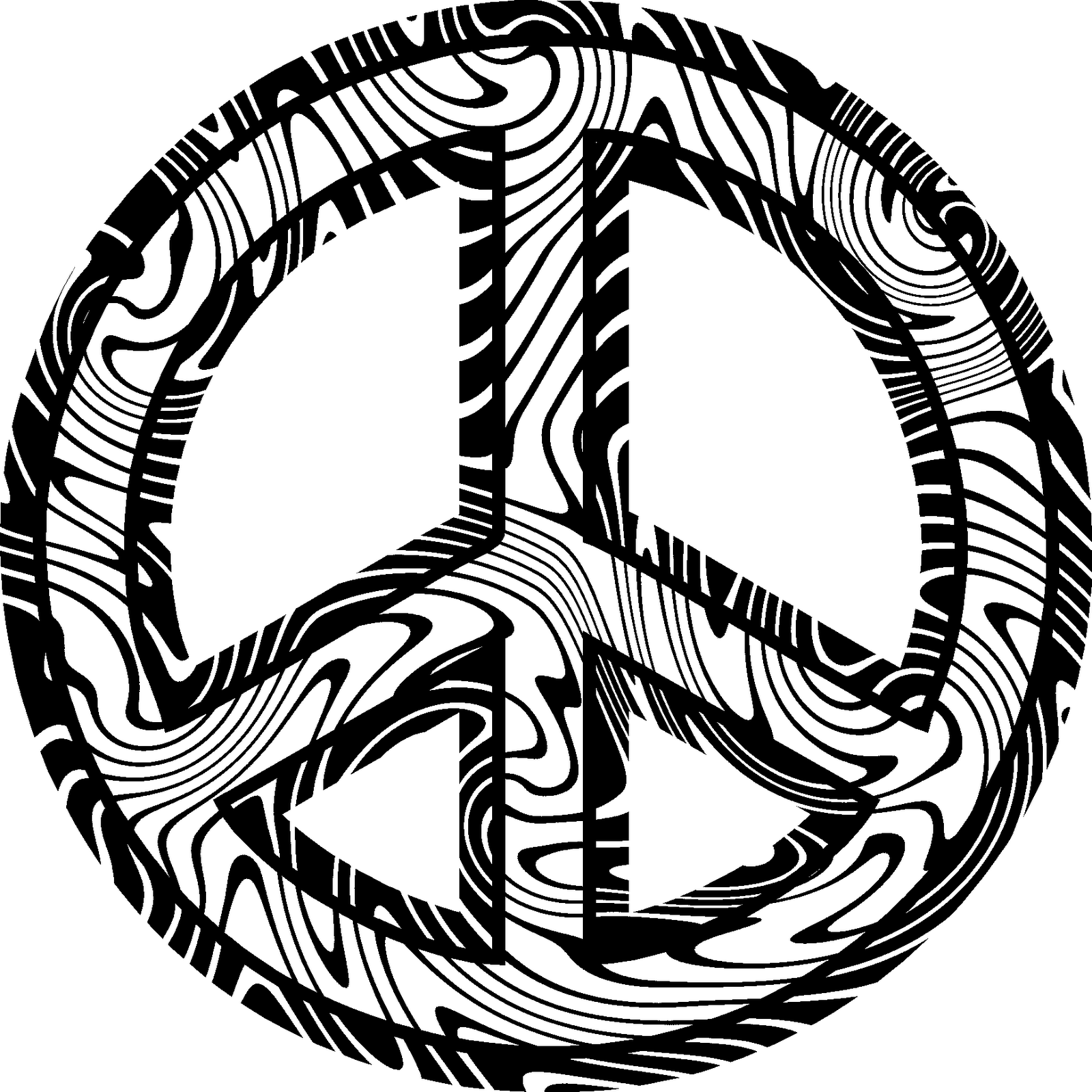 1600x1600 Reduced Peace Symbol Coloring Pages Kids