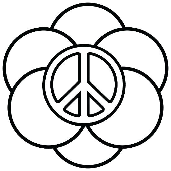 550x550 Coloring Peace Sign Coloring Page
