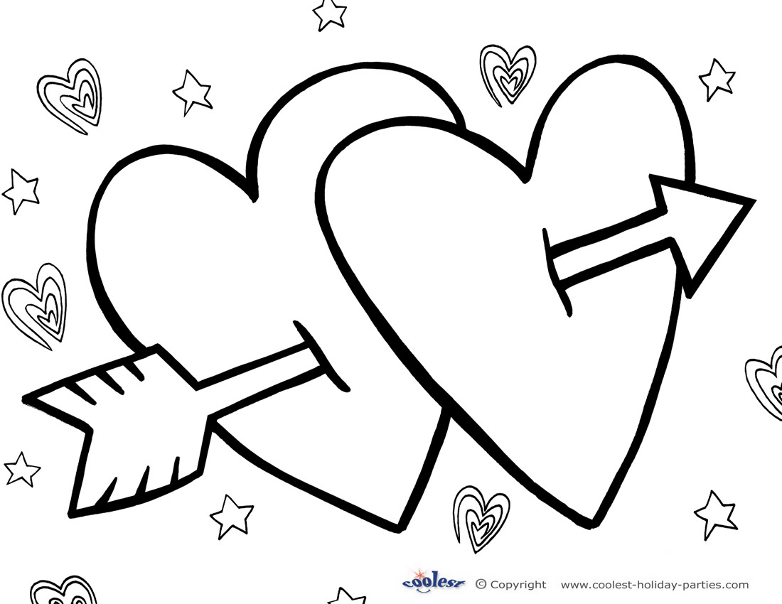 1100x850 Exciting Print Out Coloring Pages For Valentin