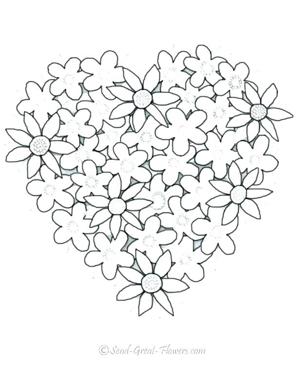 612x792 Free Valentine Heart Coloring Pages Printable Coloring Heart