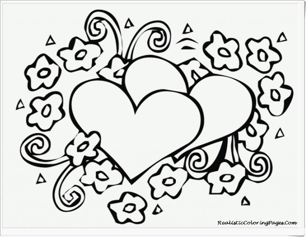 1024x794 Heart Coloring Pages To Print Out Deeptown Club